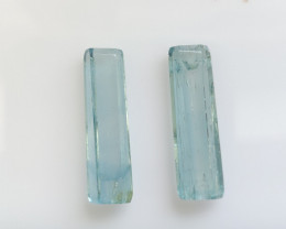 16.04cts Aquamarine Crystal Pair