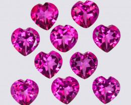 10.40 Cts Candy Pink Natural Topaz 6x4mm Heart Shape Cut Brazil