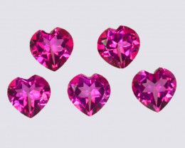 4.82 Cts Candy Pink Natural Topaz 6x4mm Heart Sahpe Cut Brazil