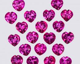 19.86 Cts Candy Pink Natural Topaz 6mm Heart Shape Cut Brazil