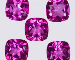 25.95 Cts Candy Pink Natural Topaz 10mm Cushion Shape Cut Brazil