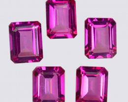 13.58 Cts Candy Pink Natural Topaz 9x7mm Octagon Cut Brazil