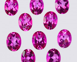 20.10 Cts Candy Pink Natural Topaz 9x7mm Oval Cut Brazil