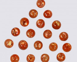 5.70Cts Natural Andesine Sunstone Cabochon Round 4mm Gem India