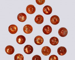 10.42 Natural Andesine Sunstone Cabochon Round 5mm Gem India