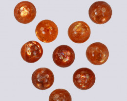 5.04 Natural Andesine Sunstone Cabochon Round 5mm Gem India