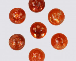 3.60 Natural Andesine Sunstone Cabochon Round 5mm Gem India