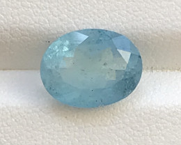 3.44 Carats Aquamarine Gemstone