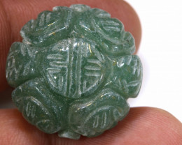 60CTS Drilled  Aventurine Bead Carved  NP-512