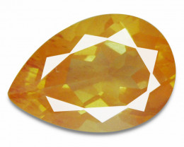 1.96 Cts Natural Greenish Sparkle Red Sunstone Andesine Pear Congo