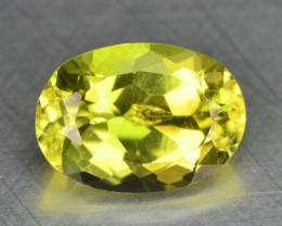 0.98 Cts Unheated Yellow Color Natural Tourmaline Gemstone