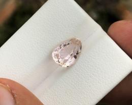 3.20 Ct Natural Light Yellow Transparent Kunzite(Triphane) Gemstone