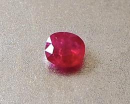 0.57ct unheated Burma ruby