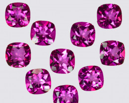 35.70 Cts Candy Pink Natural Topaz 9mm Cushion Cut Brazil