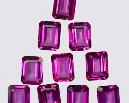 27.72 Cts Candy Pink Natural Topaz 9x7mm Octagon Cut Brazil
