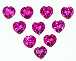 9.74Cts Candy Pink Natural Topaz 6mm Heart Shape Cut Brazil
