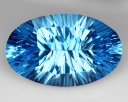 17.05 Ct Topaz Concave  Cutting Top Luster Gemstone. TL2
