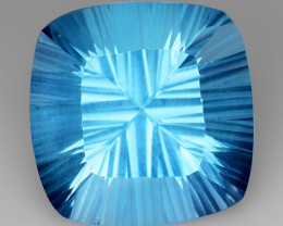 17.18 Ct Topaz Concave  Cutting Top Luster Gemstone. TL8