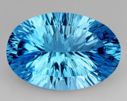 13.91 Ct Topaz Concave  Cutting Top Luster Gemstone. TL10
