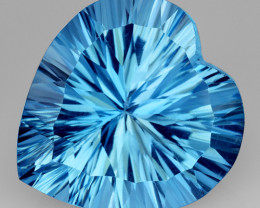 13.00 Ct Topaz Concave  Cutting Top Luster Gemstone. TL11