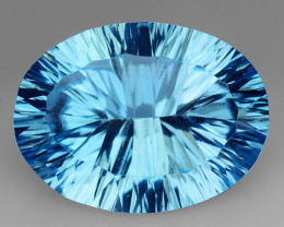 9.08 Ct Topaz Concave  Cutting Top Luster Gemstone. TL20