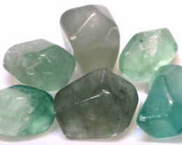 201CTS CHINESE JADE STONE DRILLED (6PC)  NP-560