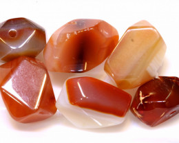 112 CTS   CARNELIAN BEAD DRILLED (6PC)  NP-562