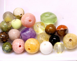 43CTS  ASSORTED NATURAL STONE (PARCEL) DRILLED  NP-568