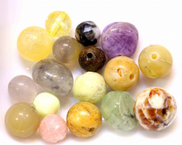 49CTS ASSORTED NATURAL STONE (PARCEL) DRILLED   NP-577