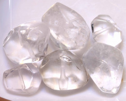 134 CTS QUARTZ BEADS DRILLED (6PC)   NP-581