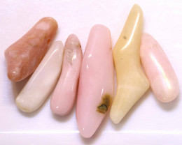59.55CTS PINK OPAL BEADS NATURAL (6PC)  NP-595