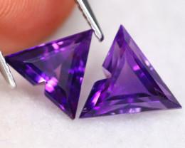 Uruguay Amethyst 2.89Ct VVS Fancy Cut Natural Violet  Amethyst C0703