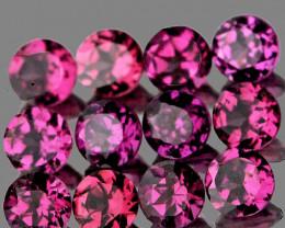 3.00 mm Round 12 pcs 1.76cts Pinkish Purple Rhodolite [VVS]