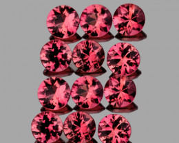 2.80 mm Round 12 pcs 1.12cts Pinkish Red Spinel [VVS]