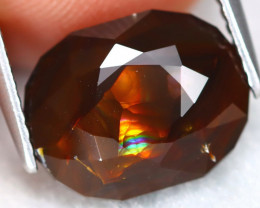 Fire Agate 5.05Ct Master Cut Natural Mexican Fire Agate ET0283