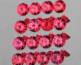 2.20 mm Round Machine Cut 20 pcs Sweet Pink Red Spinel [VVS}