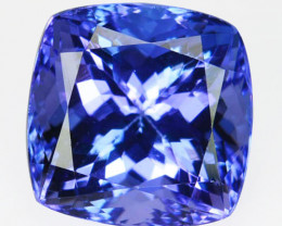 ~MARVELOUS~ 10.95 Cts Natural Pastel Blue Tanzanite Cushion Cut Tanzania