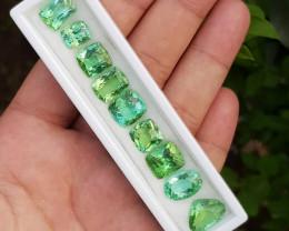 44.35 Carats Natural Tourmaline Gemstones - Jaba Mine Afghanistan - 9 pcs