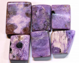 73 CTS PURPLE CHAROITE 6 RECTANGLE STONES  ADG-598