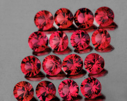 2.30 mm Round Machine Cut 20pcs 1.06cts Red Spinel [VVS]
