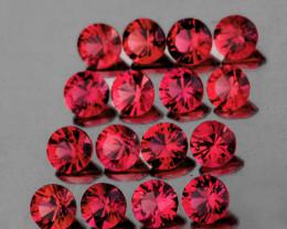 2.30 mm Round Machine Cut 20pcs 1.06cts Red Spinel [VVS]