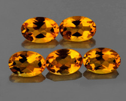 8x6 mm Oval 5.35cts Golden Yellow Citrine [VVS]