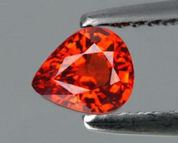 6.7x5.7 mm Pear 1.25cts Orange Spessartite Garnet [VVS]