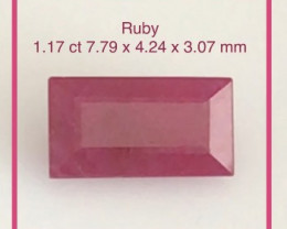 CERTIFIED Pretty Bagutte Cut Ruby - Africa  H778