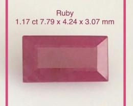 CERTIFIED Pretty Bagutte Cut Ruby - Africa  H778