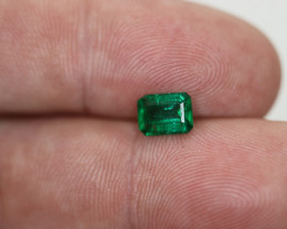 #1098 1.11CTS SUPERB NO OIL A+++ ALL NATURAL COLOMBIAN  EMERALD