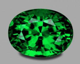 Flawless, custom precision cut vivid green chrome tourmaline.