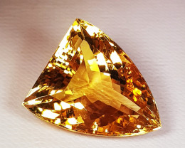 23.20 ct Top Quality Large Fancy Cut Golden Whisky Natural Citrine