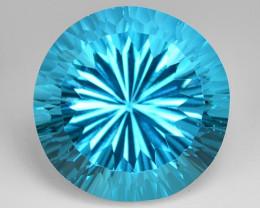 23.55  Carat  Millennium Cut Super Swiss Blue Natural Topaz Gemstones