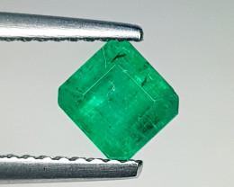 0.83 ct Top Grade Stunning Octagon Cut Top Green Natural Emerald